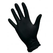 Перчатки нитриловые текстурированные  на пальцах NitriMax черные 4гр (XS-100шт/уп)