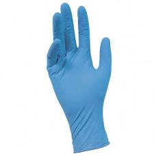 Перчатки нитриловые текстурированные  на пальцах NitriMax голубые 3,2гр (M-200шт/уп)