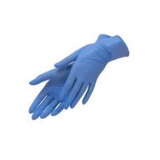 Перчатки нитровиниловые Benovy голубые (M-100шт/уп)