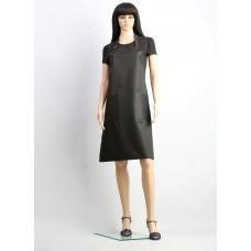 Professional Style Фартук классический, из плотной матовой ткани, водонепроницаемый,ширина 55 см. длина 87 см, черный