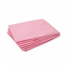 Простыня 70х200 15г/м2 розовая (10 шт/упак.)