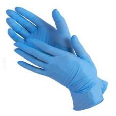 Перчатки нитриловые текстурированные на пальцах  Benovy голубые 3гр (M-200шт/уп)