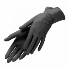 Перчатки нитриловые текстурные на пальцах  Benovy черные 3гр (M-100шт/уп)