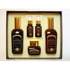 3W Clinic Набор для ухода за кожей Premium Placenta 3 Items Set
