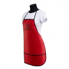 Фартук TNL красный с тройным карманом