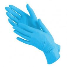 Перчатки нитриловые текстурированные на пальцах  Benovy голубые 3.5гр (M-100шт/уп)