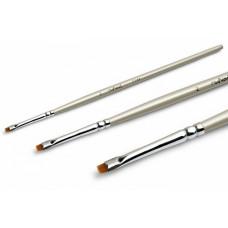 RuNail Кисть для гелевого дизайна Flat №2, синтетическое волокно