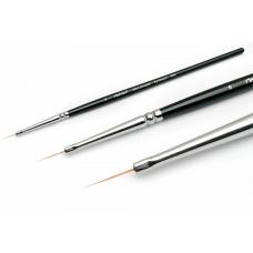 RuNail Кисть для дизайна короткий волосок Mini Stripper Synthetic ANL №6, для прорисовки, синтетика