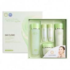 3W Clinic Набор для ухода за лицом Snail Moist Control Skin Care 3 Set