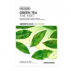 The Face Shop Маска тканевая для лица с экстрактом зеленого чая Shaved Mask Sheet Green Tea, 20мл