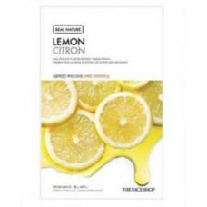 The Face Shop Маска тканевая для лица с экстрактом лимона Shaved mask sheet  Lemon, 20мл