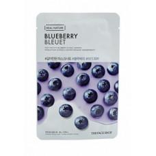 The Face Shop Маска тканевая для лица с экстрактом голубики Shaved mask sheet Blueberry, 20мл