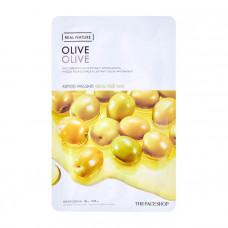 The Face Shop Маска тканевая для лица с экстрактом оливы Shaved mask sheet Olive, 20мл