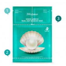 JMsolution Набор увлажняющий с жемчугом 3шага MARINE LUMINOUS PEARL DEEP MOISTURE MASK Pearl, 30мл