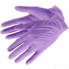 Перчатки нитриловые текстурированные на пальцах  Benovy сиреневые 3.5гр (M-100шт/уп)