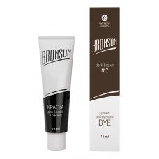 Bronsun Краска для бровей и ресниц №7 Темно-коричневый, 15мл
