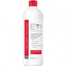 EVI Professional Жидкость для снятия гель-лака, биогеля, шеллака, искусственных ногтей с витаминами 1000мл